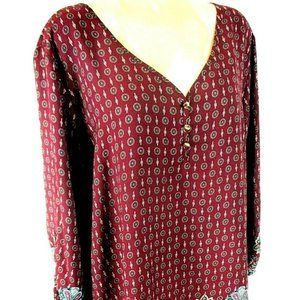 Avenue womens 22/24 purple floral TUNIC top (X)E1